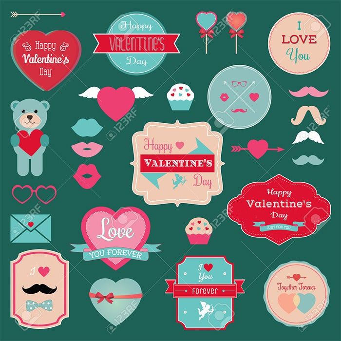 Printable Valentines Labels  Psd Designs  Free  Premium Templates