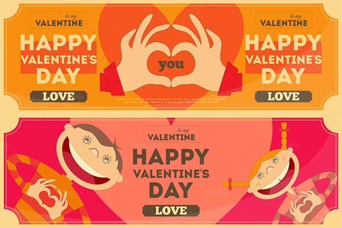valentines day banner illustration