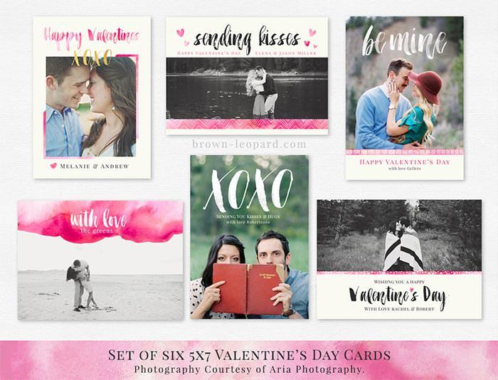 valentines day cards set