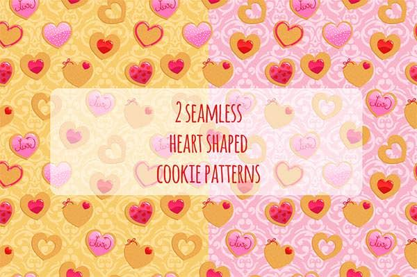 valentines day colourful pattern with small heart shapes