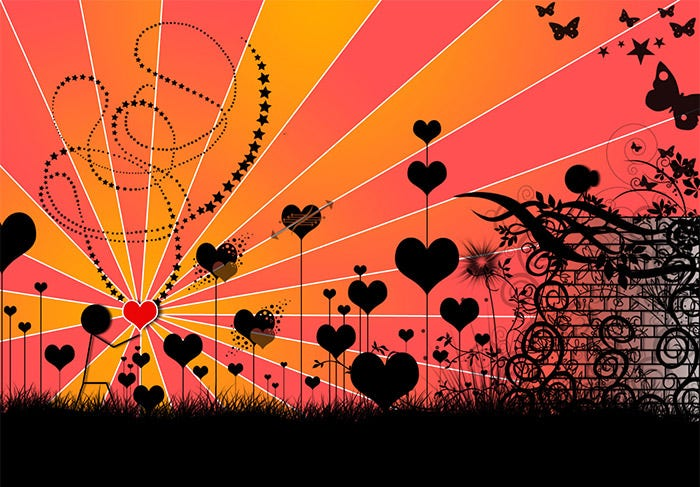 valentines day feelings retro background
