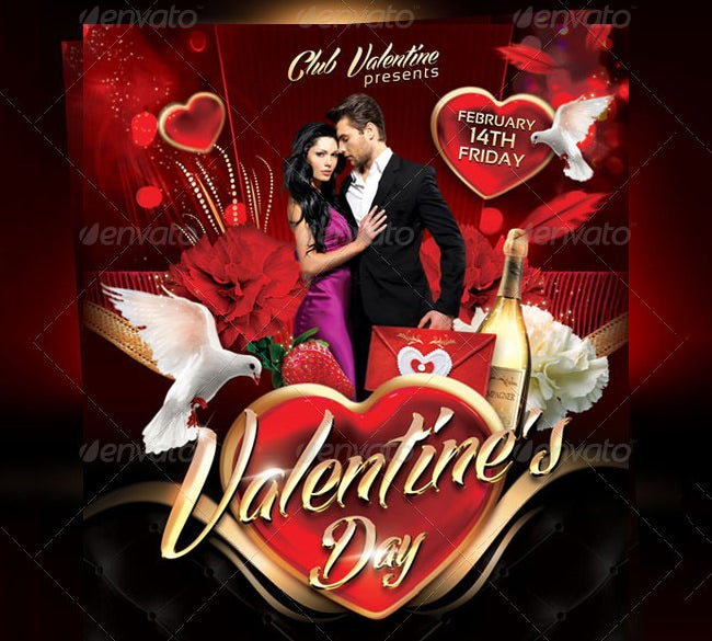 56 Fabulous Psd Valentine Flyer Templates Word Publisher Free