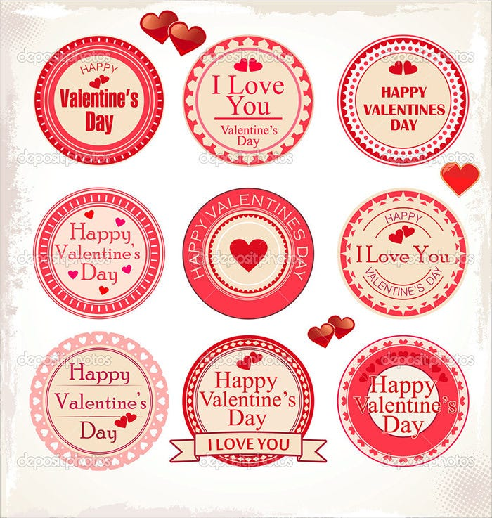 35 printable valentines labels psd designs free premium templates