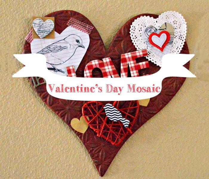 valentines day mosaic