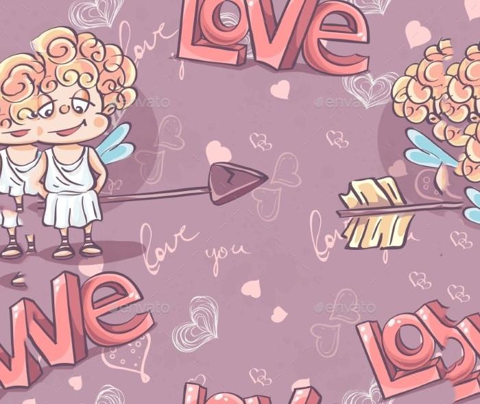 valentines day pattern background