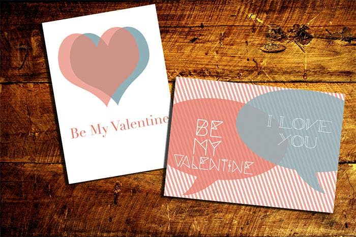 valentines day poster card