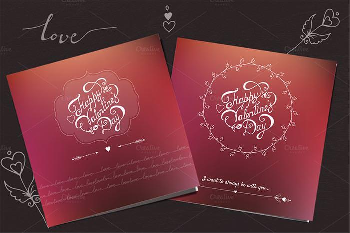 valentines day vector card design