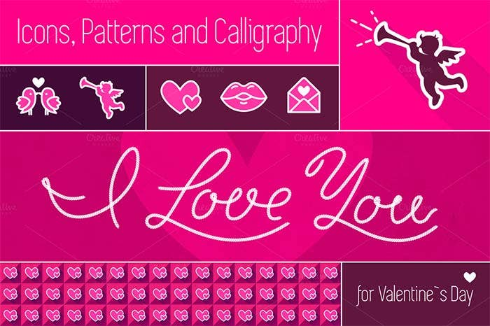 valentines day vector elements