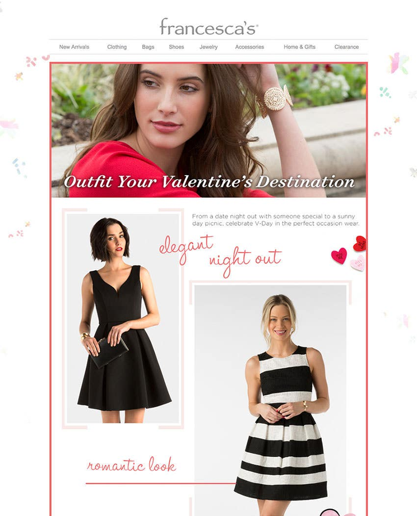 valentines destination email template