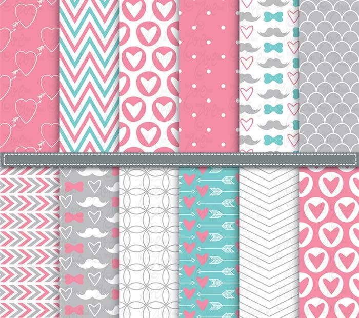 valentines digital paper printable background
