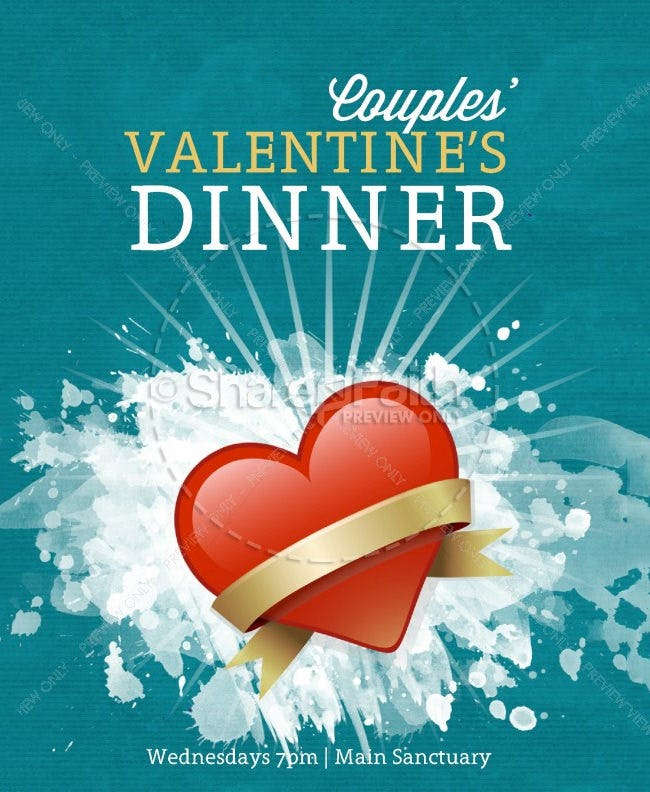 valentines dinner flyer template