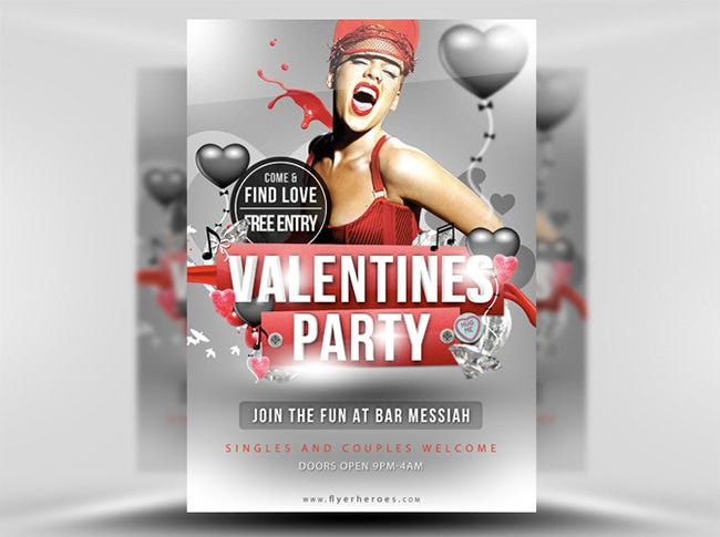 valentines flyer template 2