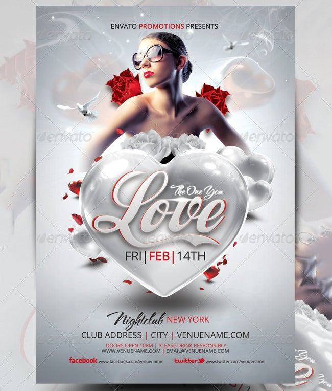 valentines flyer template 3