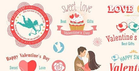 valentines label templates