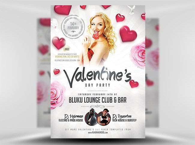 valentines party flyer 3