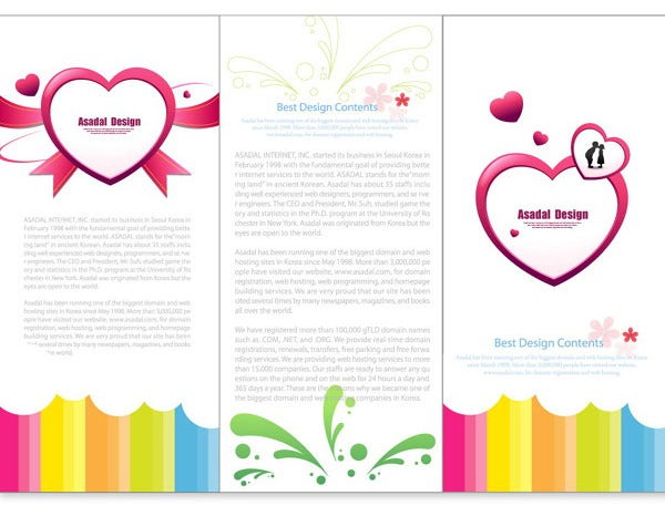 valentines day brochure design