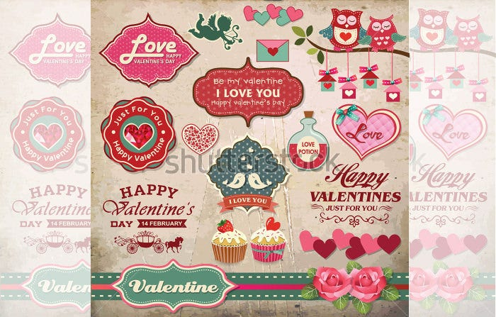 Printable Valentines Labels  Psd Designs  Free  Premium