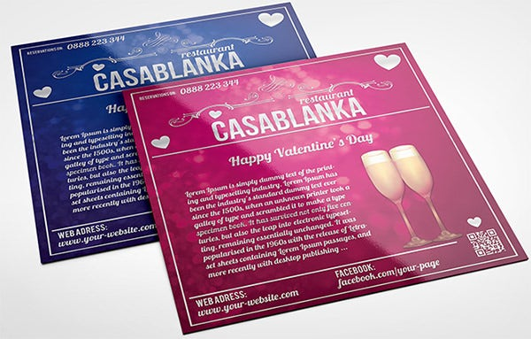 valentines day square brochure