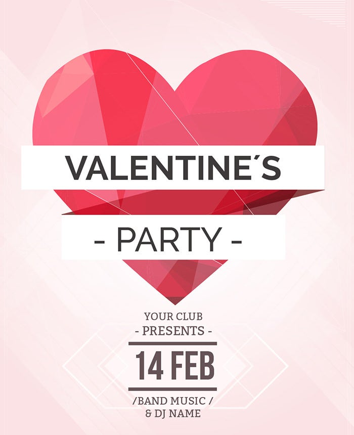 Best Valentine Invitation Templates For Free Premium - Party invitation template: club party invitation template