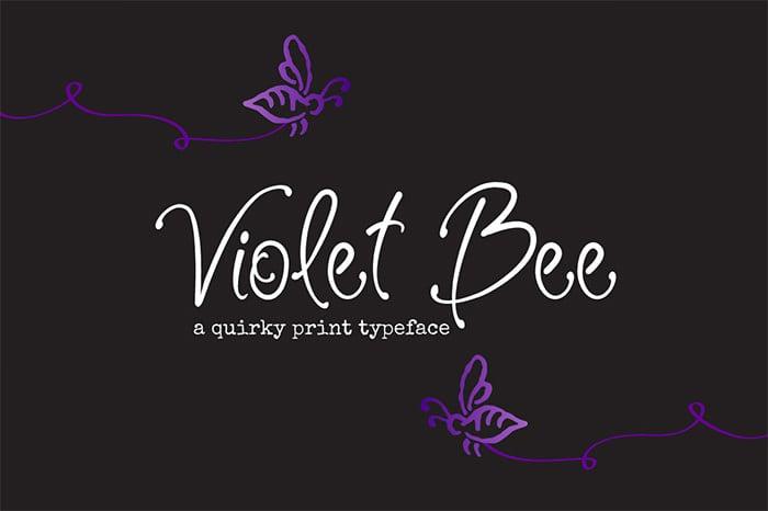 violet bee font1