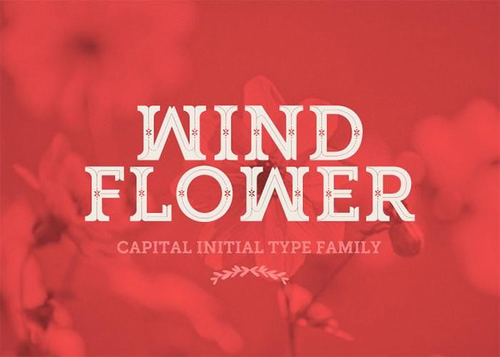 windflower font