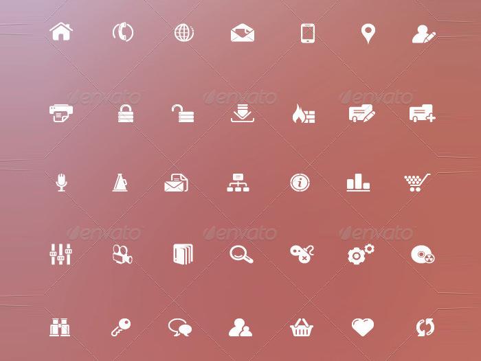 web icon iconic font