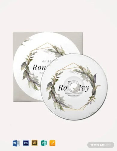 wedding dvd cover cd label template
