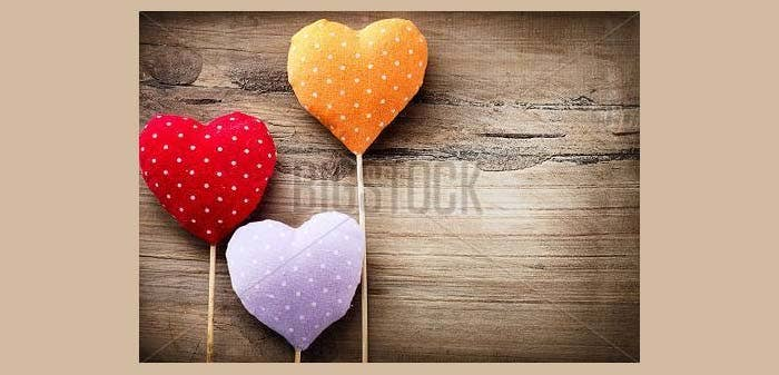 wooden valentines vintage handmade background