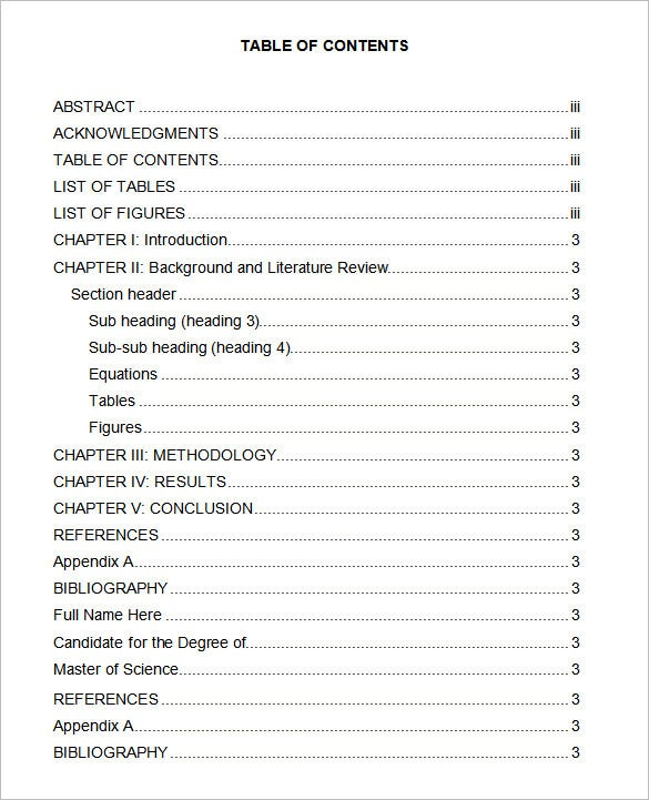 Table of contents in apa format kleo. Wagenaardentistry. Com.