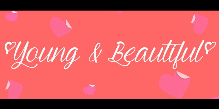 young and beautifull calligraphy fonts