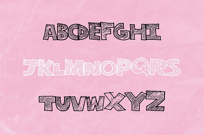 Stripe Font Fun Font
