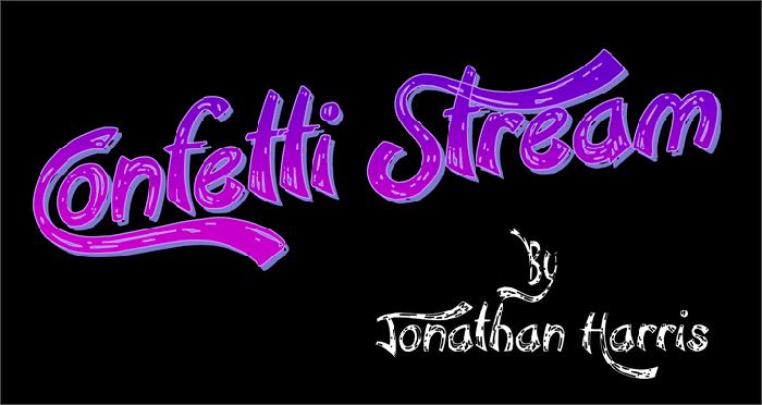 Confetti Stream fun font
