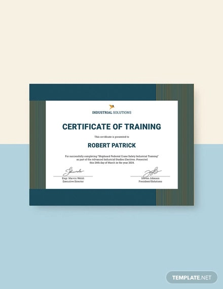 free industrial training certificate