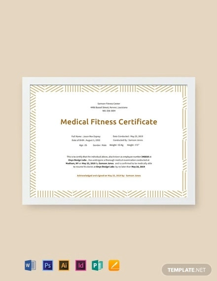 free medical fitness