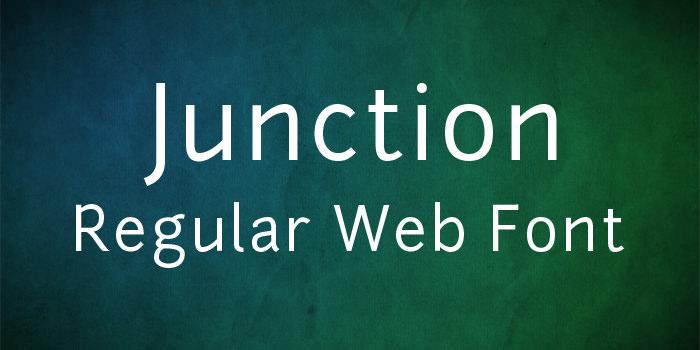 junction regular web font