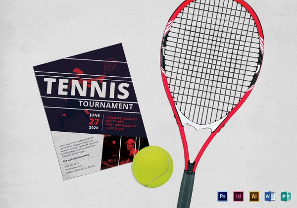 16 tennis flyers psd ai vector eps free premium for Table tennis tournament template
