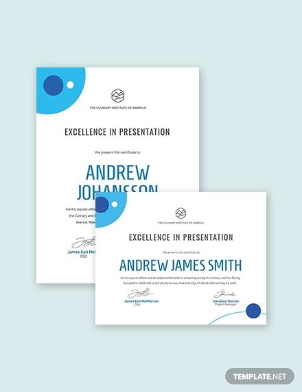 modern award certificate