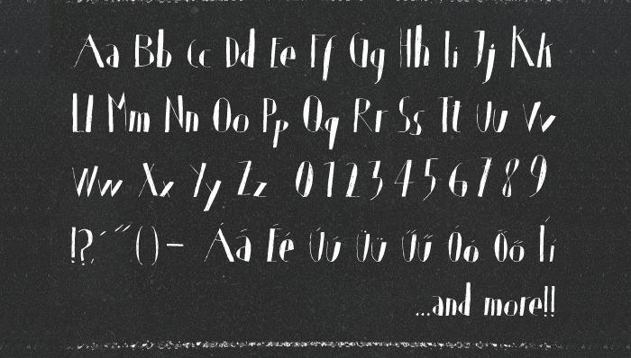 Handwriting True Type Font