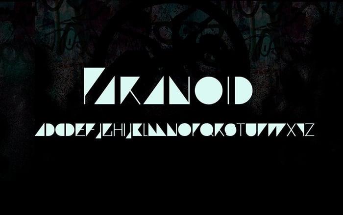 paranoid fun font