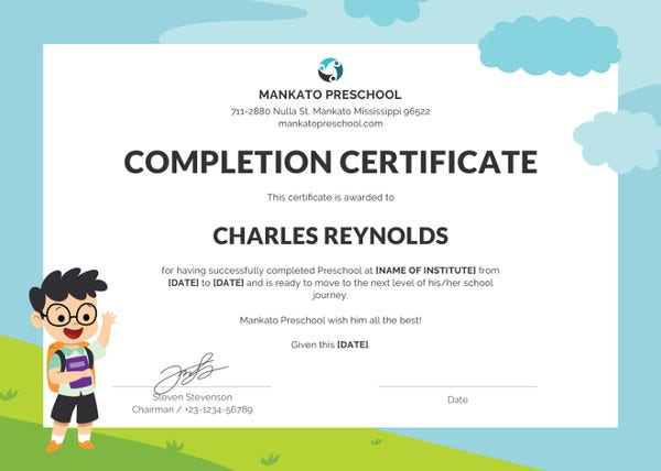 school-leaving-certificate-template