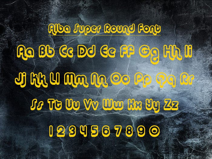 Alba Super Round Font