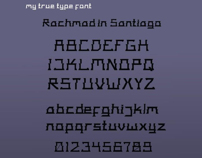 true type font