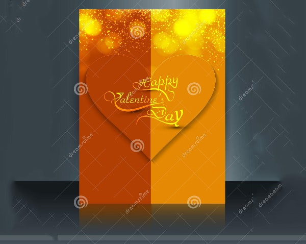 valentine s day brochure template
