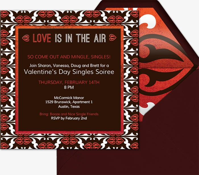 valentines day invitation 2