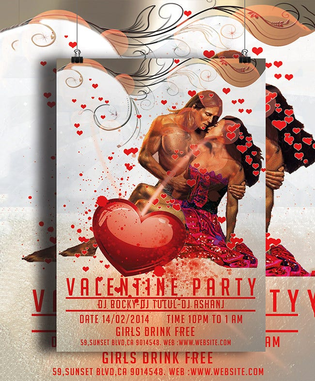 valentines day party flyer 3