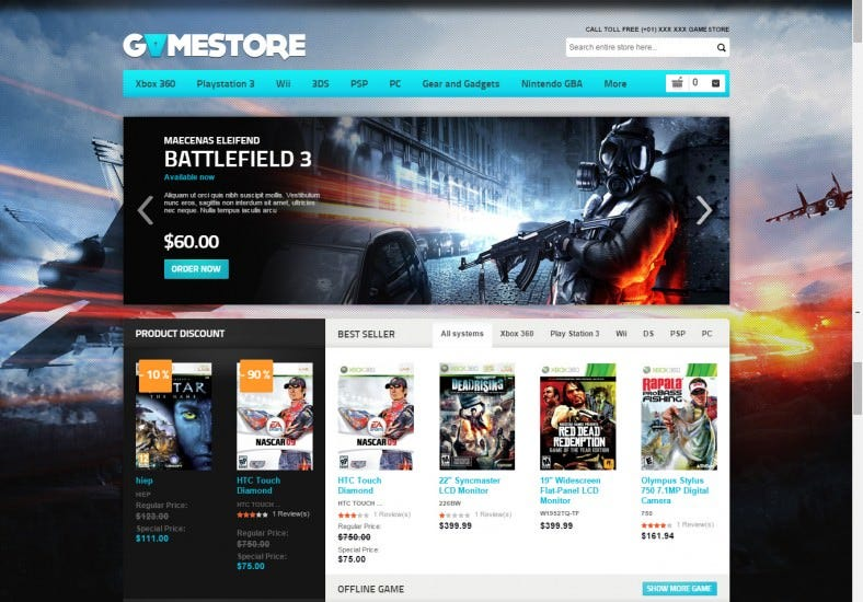 Magento Theme for entertainment store
