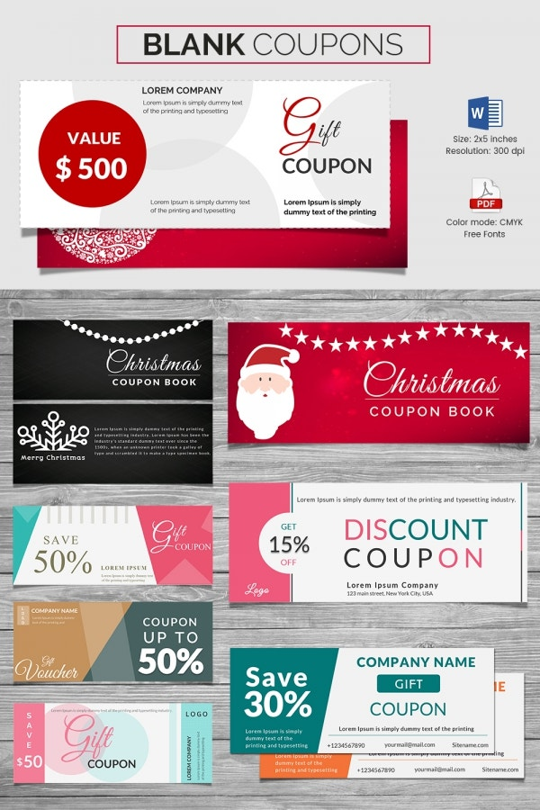 Coupon voucher design template 26 free word jpg psd for Create a coupon template free