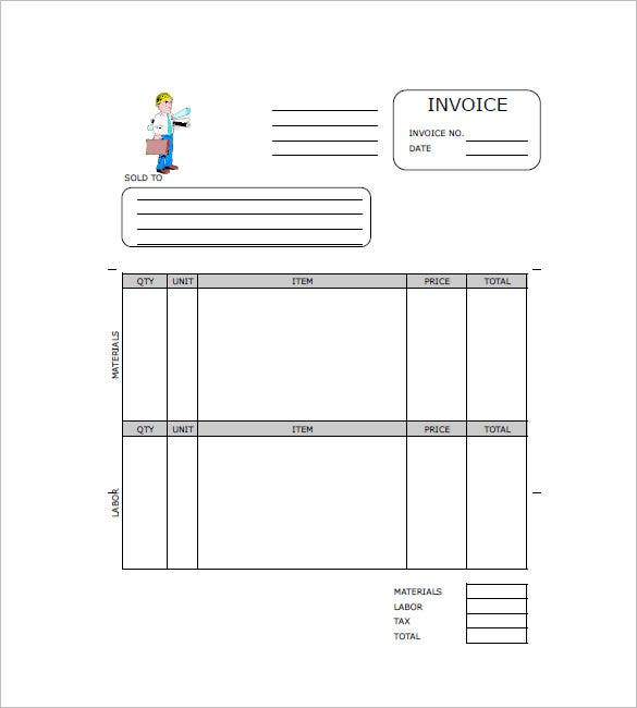 Contractor Invoices. Invoice Template For Contractor Template ...