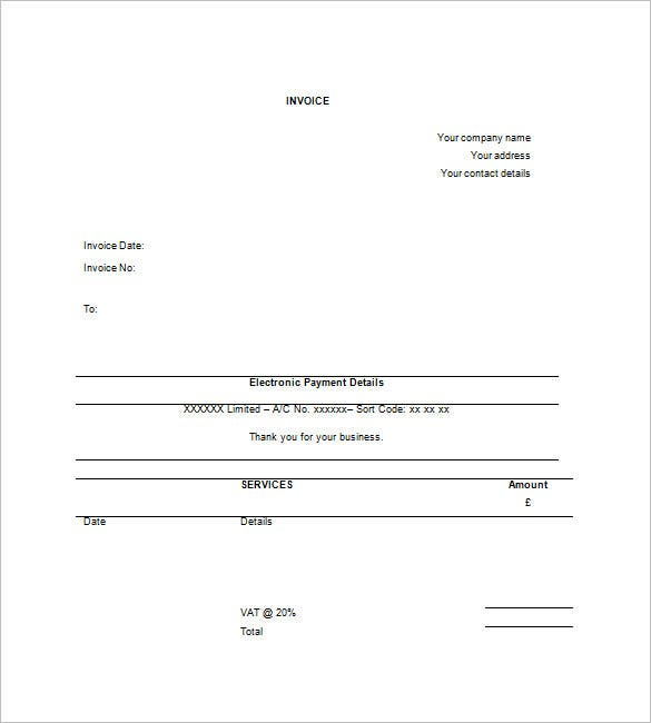 Free Contractor Invoice Templates – Free Download Invoice Template