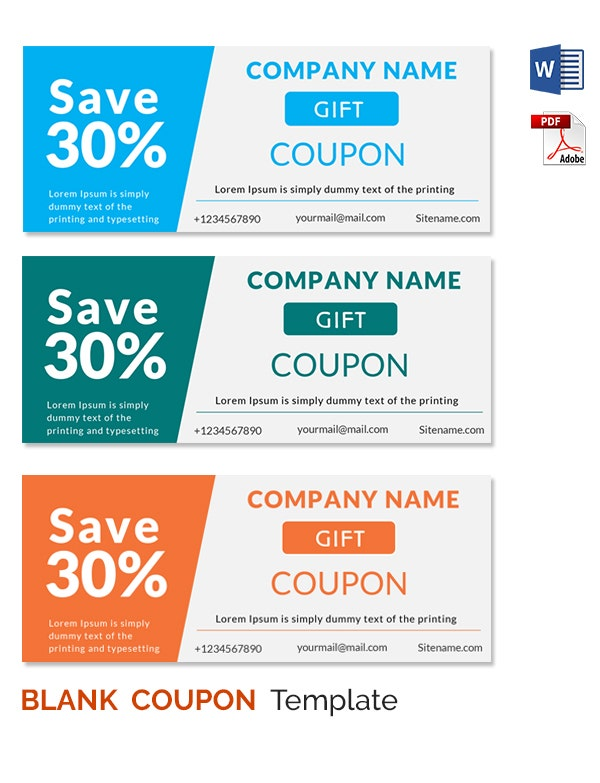Blank coupon templates 26 free psd word eps jpeg for Coupon making template
